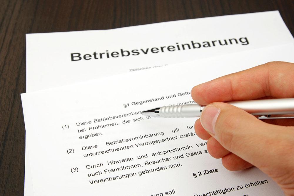 Verhandlungen zu Betriebsvereinbarungen